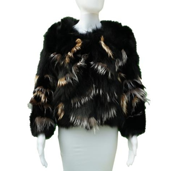 cda1e014276f Adrienne Landau Jackets & Coats | Black Fur Coat | Poshmark